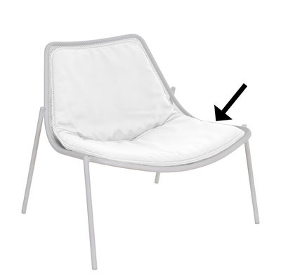 Cuscino - / Per poltrona bassa Round di Emu - Bianco - Tessuto