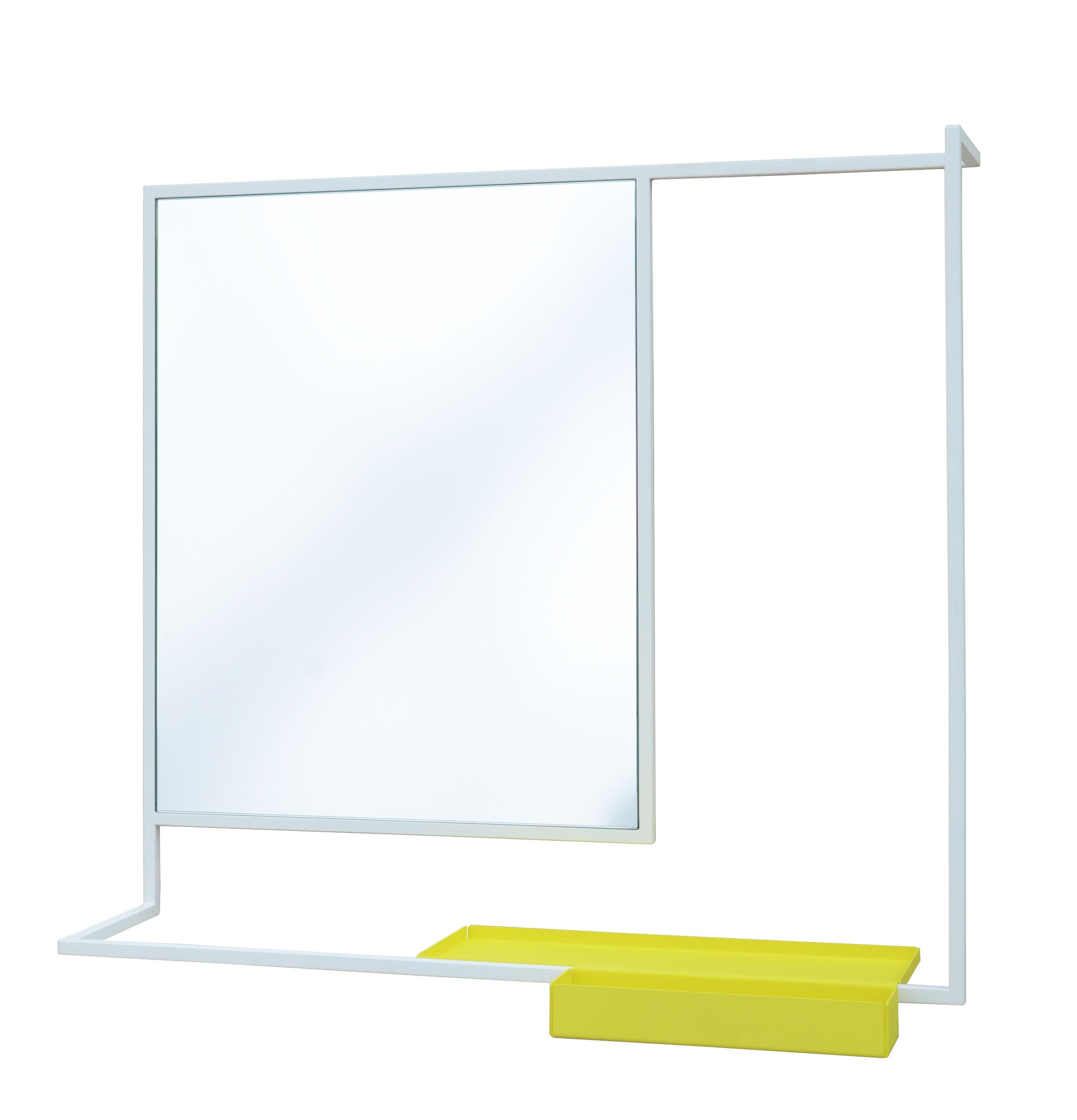 Miroir mural romi porte serviettes tablette 78 x 60 for Porte miroir 60 cm