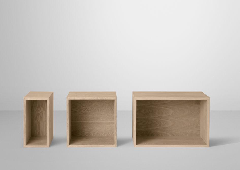 etag re mini stacked medium carr 33x33 cm avec fond fr ne muuto. Black Bedroom Furniture Sets. Home Design Ideas
