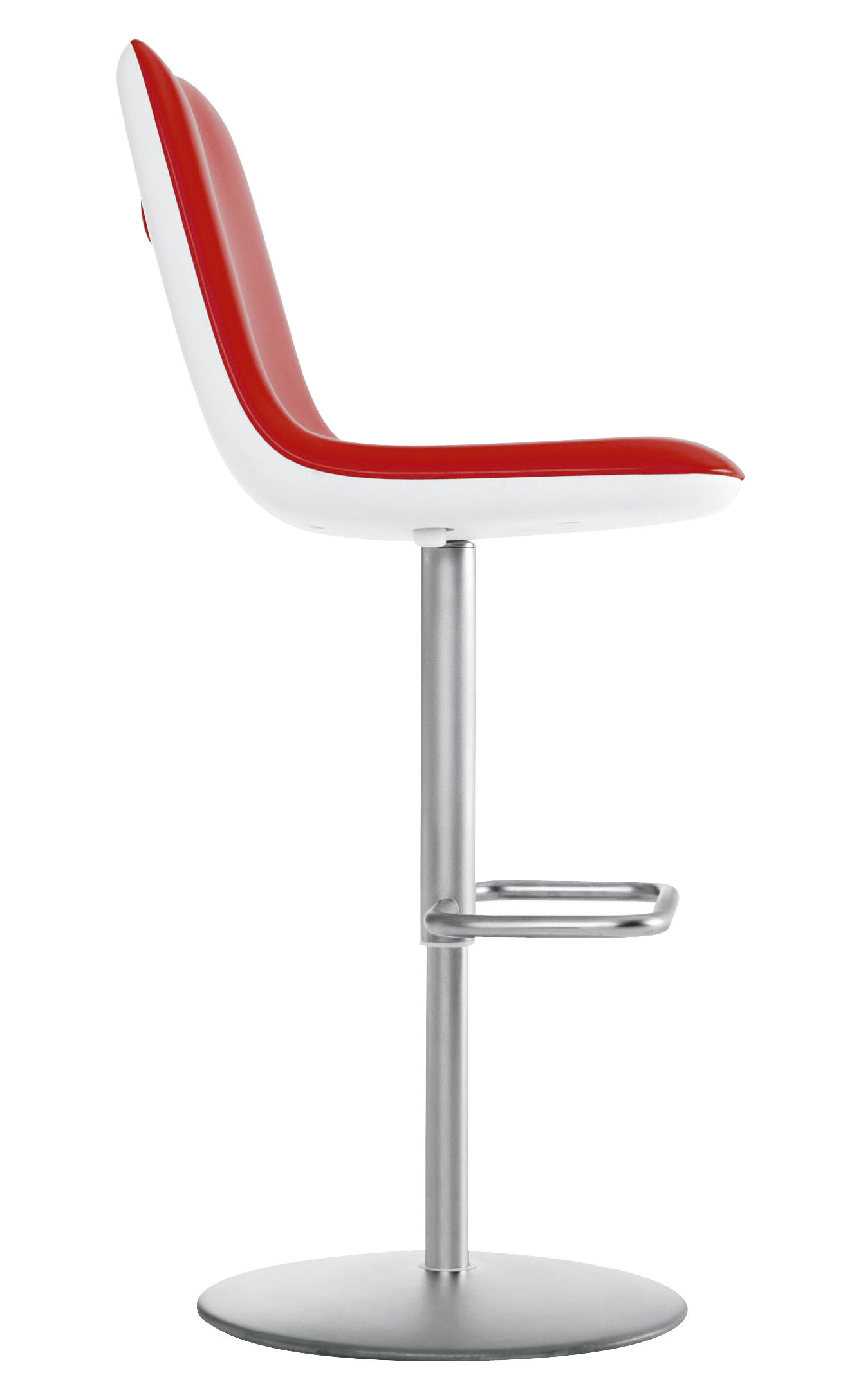 tabouret haut r glable boum assise tissu rembourr e rouge kristalia. Black Bedroom Furniture Sets. Home Design Ideas