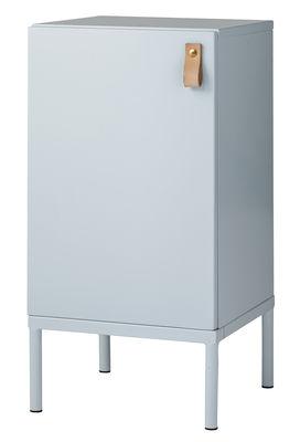 Image of Mobile per riordino Cute Cabinet / Comodino - L 30 x H 60 cm - Bloomingville - Azzurro - Metallo