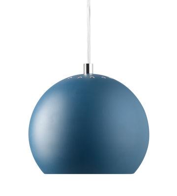 Suspension Ball Small Ø 18 cm Réédition 1968 Frandsen bleu pétrole mat en métal
