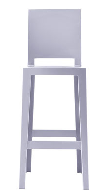 Chaise de bar One more please / H 65cm - Plastique - Kartell bleu lavande en matière plastique