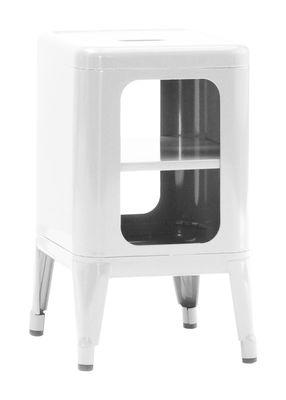 Meuble de rangement / H 50 cm - Acier laqué - Tolix blanc en métal