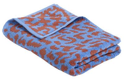 Drap de bain He She It / by Nathalie du Pasquier - 140 x 70 cm - Hay rouge,bleu ciel en tissu