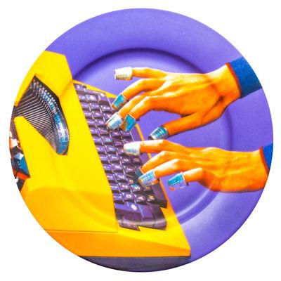 Assiette Toiletpaper - Machine à écrire / Porcelaine - Seletti multicolore en céramique