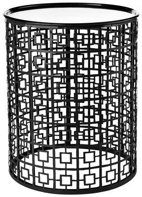 Miami Beistelltisch / abnehmbare Tischplatte - Ø 35 x H 45 cm - Pols Potten - Schwarz,Silber