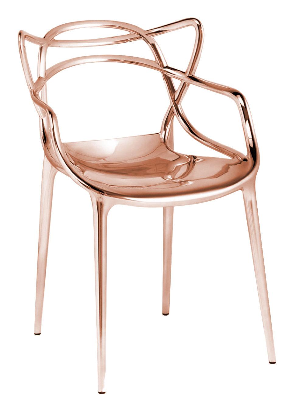 fauteuil empilable masters m tallis cuivre kartell. Black Bedroom Furniture Sets. Home Design Ideas