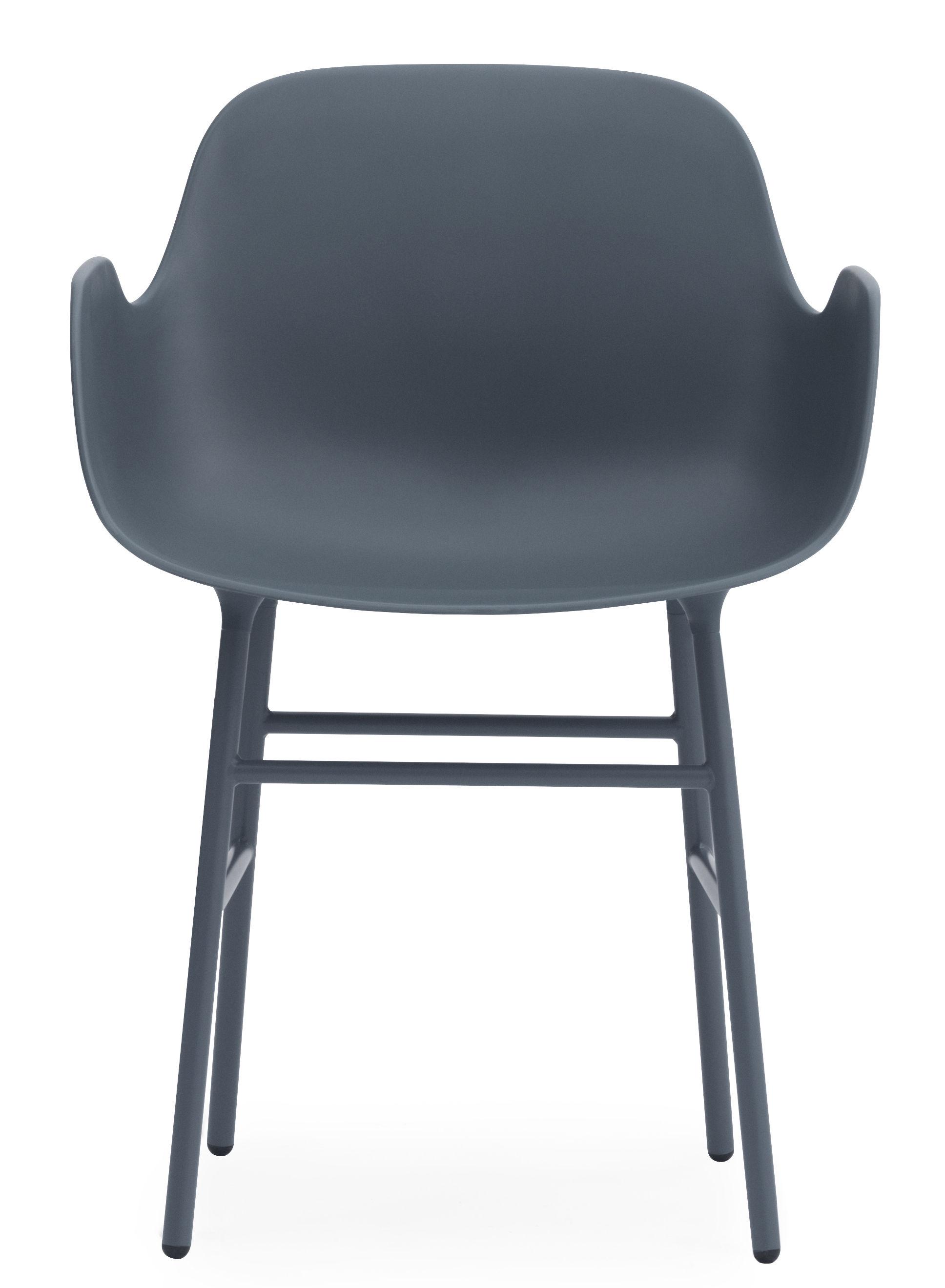 fauteuil form pied m tal bleu normann copenhagen. Black Bedroom Furniture Sets. Home Design Ideas