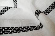 Tovaglia Lugo - / 180 x 140 cm - tessuto di Internoitaliano - Nero - Tessuto