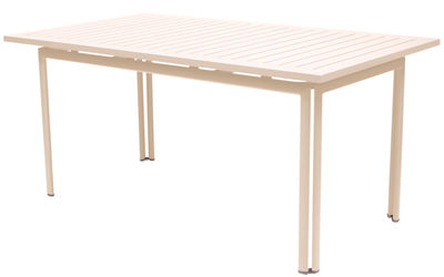 Table Costa / 160 x 80 cm - Fermob Lin en Métal