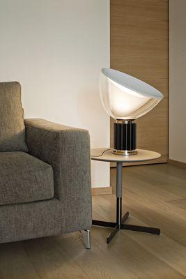 Taccia led small lampada da tavolo diffusore vetro h 48 cm bronzo trasparente by flos - Lampade da tavolo flos ...