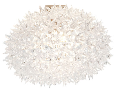 Plafonnier Bloom / Plafonnier - Ø 53 cm - Kartell blanc en matière plastique