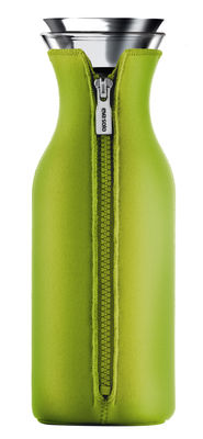 Tavola - Caraffe e Decantatori - Caraffa Stoppe-goutte - Salvagoccia - Con fodero isolante - 1 L di Eva Solo - Fodero verde limone - Acciaio inossidabile, Neoprene, Vetro
