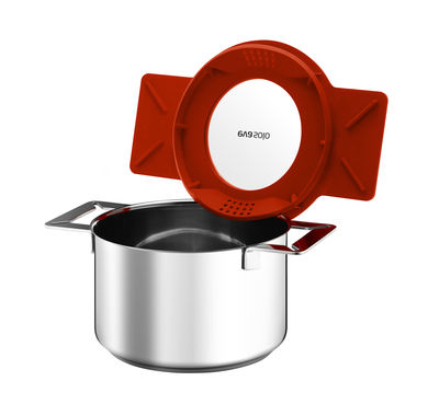 Kitchenware - Pots and pans - Gravity Stew pot by Eva Solo - Flame - Silicone, Stainless steel