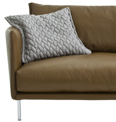 coussin gentry tissu 45 x 40 cm gris clair moroso. Black Bedroom Furniture Sets. Home Design Ideas