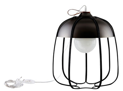 Lampe de table Tull / Ø 36 x H 40 cm - Incipit Noir,Nickel noir en Métal