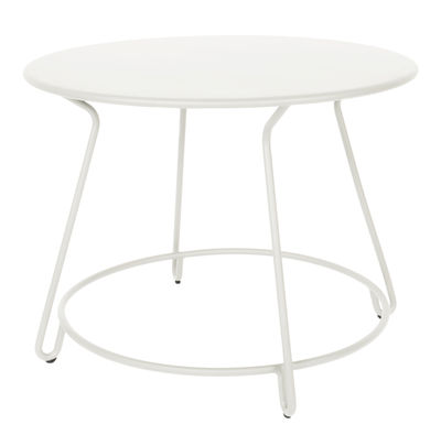 Table Huggy / Ø 100 cm - Aluminium - Maiori blanc en métal
