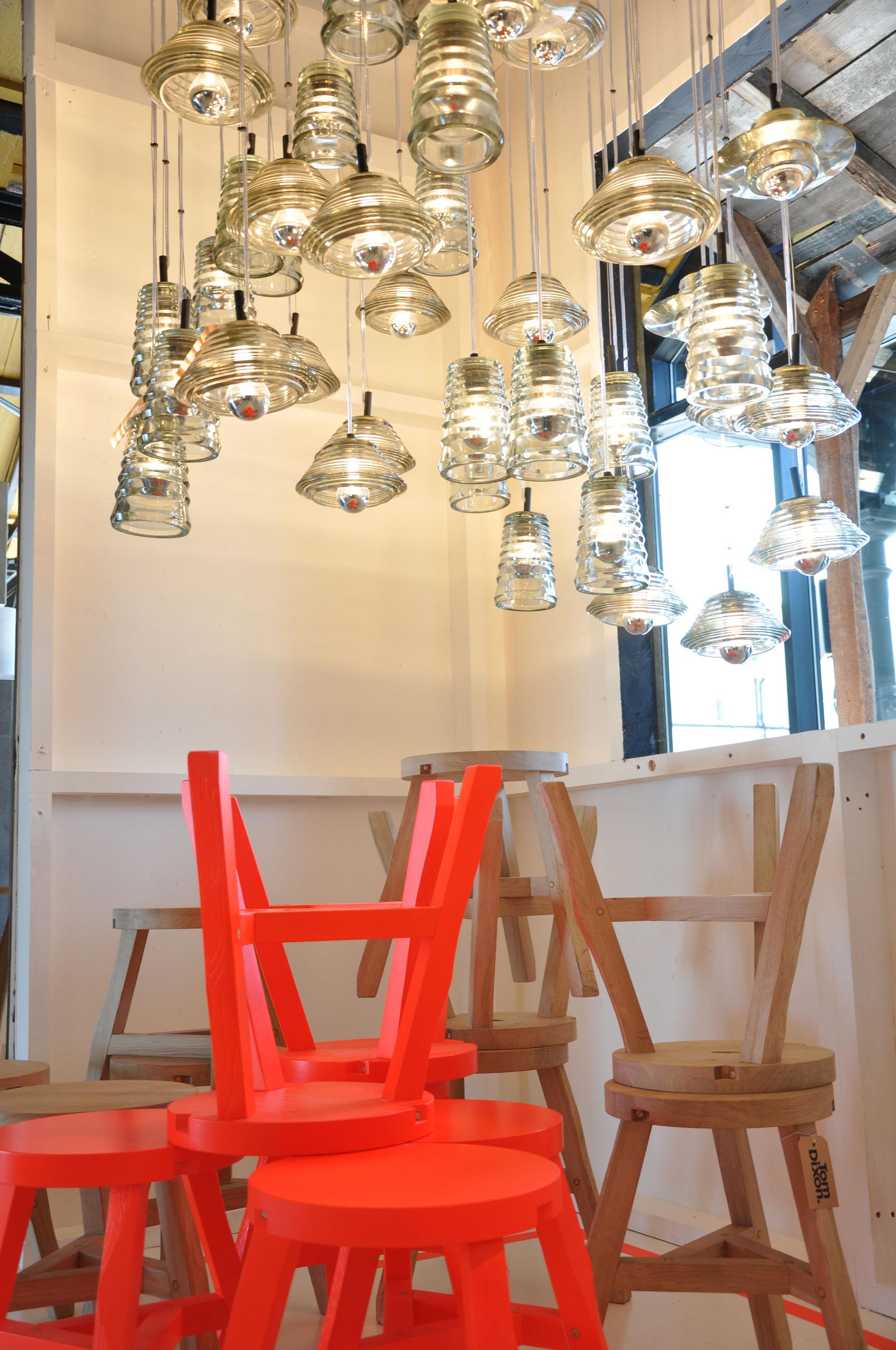 Tom Dixon Lampada Fluoro : Offcut stool fluoro orange by tom dixon