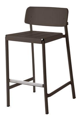 Chaise de bar Shine H 75 cm Métal Emu marron d'inde en métal