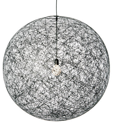 Luminaire - Suspensions - Suspension Random Light /  Large - Ø 110 cm - Moooi - Noir - Fibre de verre