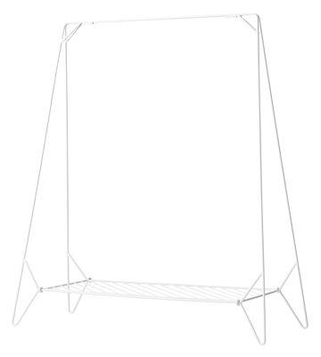 Mobilier - Portemanteaux, patères & portants - Portant Anker / L 130 cm - Pliable - Menu - Blanc - Acier laqué mat