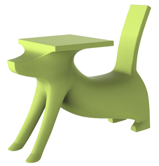 le chien savant children 39 s desk green by magis collection me too. Black Bedroom Furniture Sets. Home Design Ideas