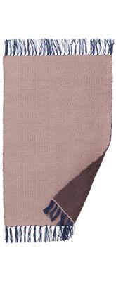Déco - Tapis - Tapis pour l'extérieur Nomad Small / 60 x 90 cm - Ferm Living - Rose pâle / Bordeaux - Polyester recyclé