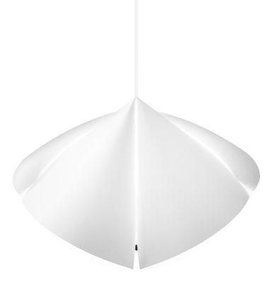 Luminaire - Suspensions - Suspension Plumo / L 80 cm - Flux - L 80 cm / Blanc - Polypropylène
