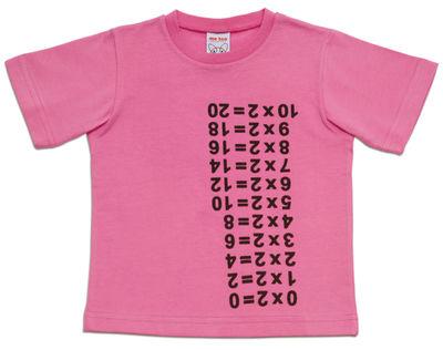 Déco - Pour les enfants - Tee-shirt Times Table / Medium 4 à 5 ans - Magis Collection Me Too - Rose - Medium (4 à 5 ans) - Coton