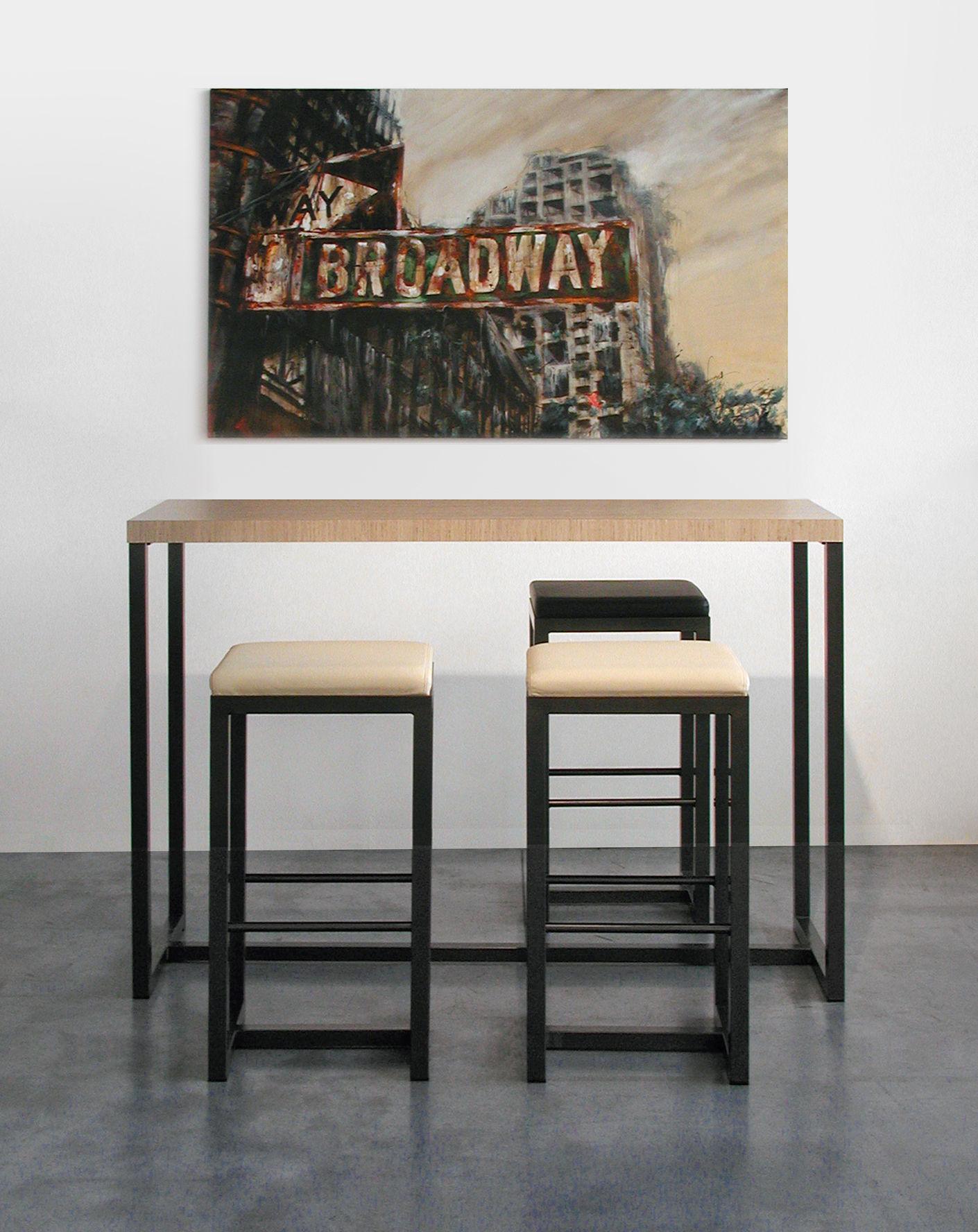 mange debout big brother 150 x 50 cm x h 108 cm bois clair pied noir cuivr zeus. Black Bedroom Furniture Sets. Home Design Ideas