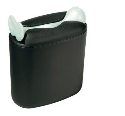Kitchenware - Fun in the kitchen - Hot Stuff Airtight box by Koziol - Black / White spoon - Plastic material