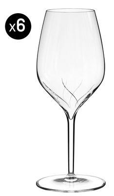Foto Bicchiere da vino Vertical Oxy - lotto da 4 - 39 cl - Con scanalature di Italesse - Trasparente - Vetro