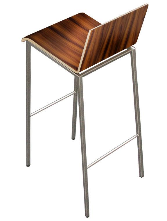 Chaise de bar bianco bois h 80 cm palissandre pieds for Chaise 80 cm