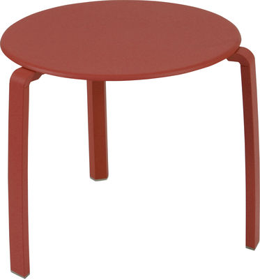 Tavolino d'appoggio Alizé di Fermob - Papavero - Metallo