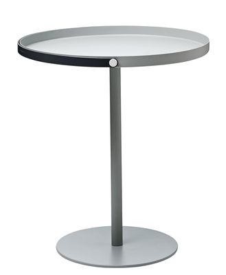 Tavolino basso To Go / Manico integrato - H 48 cm - Design Letters - Grigio,Grigio scuro - Metallo