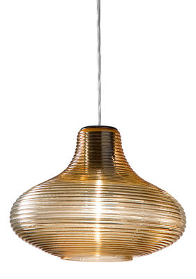 suspension emma verre souffl artisanal ambre panzeri. Black Bedroom Furniture Sets. Home Design Ideas