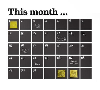 Foto Sticker Calendrier di Ferm Living - Nero - Materiale plastico