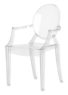 Furniture - Kids Furniture - Lou Lou Ghost Children armchair by Kartell - Cristal - Polycarbonate