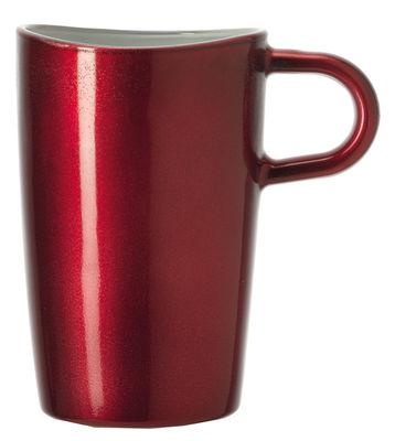Tasse Loop à Macchiato / H 12 cm - Leonardo rouge métallisé en verre