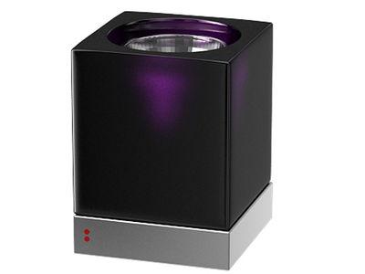 Lampe de table Cubetto Black Glass Fabbian noir,violet en verre