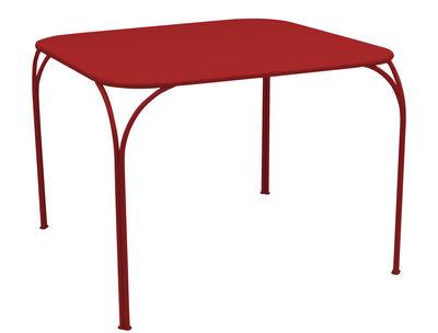 Table Kintbury 100 x 100 cm Fermob coquelicot en métal