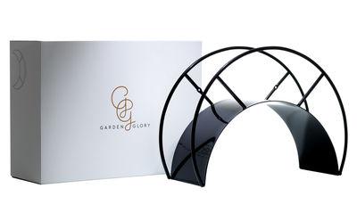 support mural enrouleur pour tuyau d 39 arrosage noir. Black Bedroom Furniture Sets. Home Design Ideas