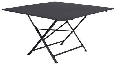 Table pliante Cargo 128 x 128 cm Fermob carbone en métal