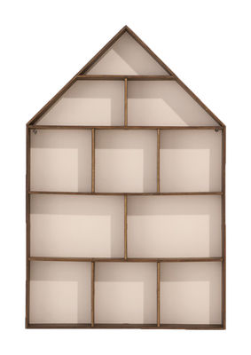etag re the little dorm vitrine 11 chambres bois fond blanc ferm living. Black Bedroom Furniture Sets. Home Design Ideas