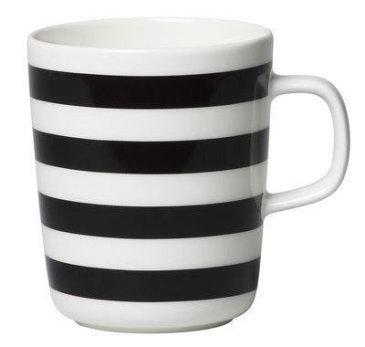 Mug Oiva Tasaraita / 25 cl - Marimekko blanc,noir en céramique