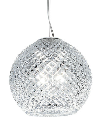 Lighting - Pendant Lighting - Diamond Swirl Pendant - Ø 18 cm by Fabbian - Cristal - Ø 18 cm - Glass