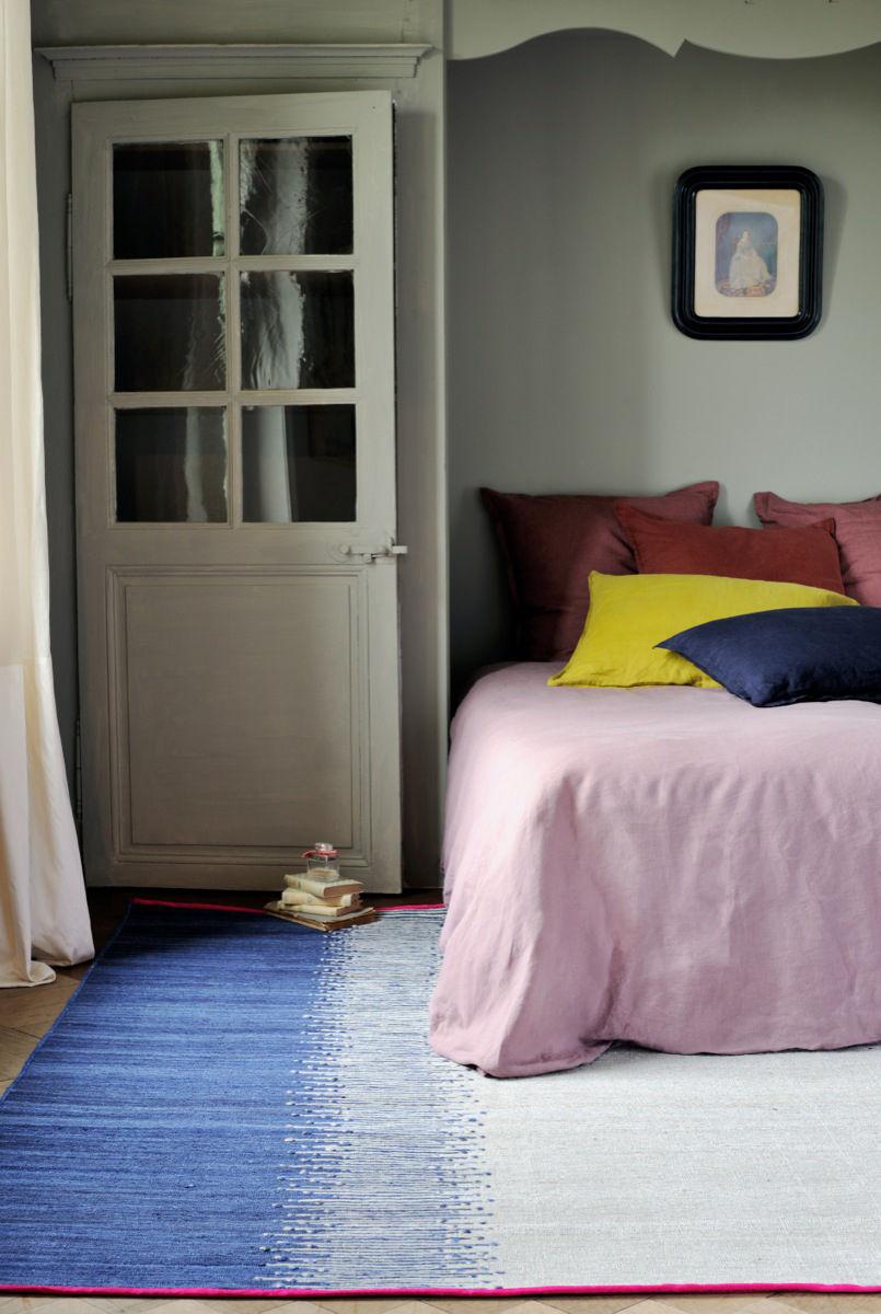 tapis ikat r versible 170 x 240 cm bleu toulemonde bochart. Black Bedroom Furniture Sets. Home Design Ideas