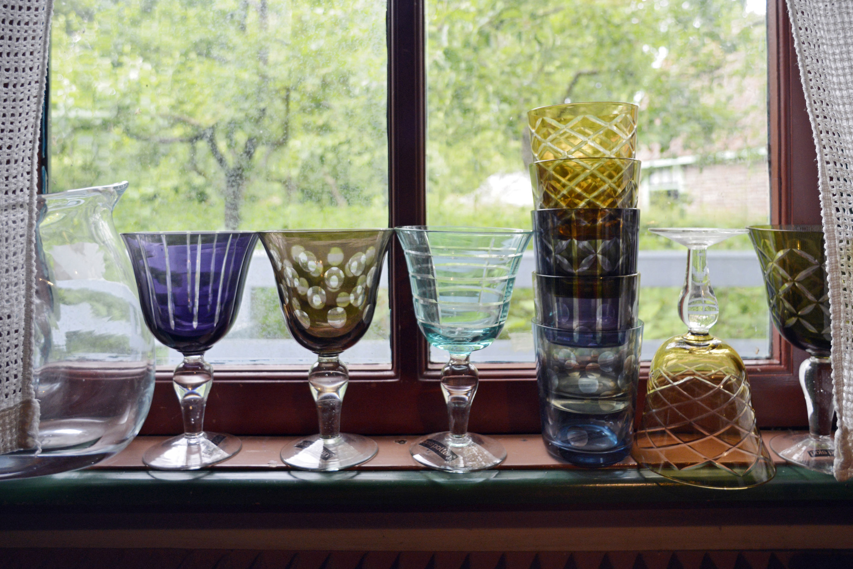 Verre vin cuttings set de 6 multicolore pols potten made in design for Set de table multicolore