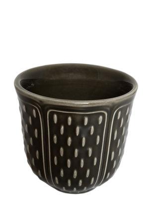 Gobelet Les Petits Choux / Set de 2 - 8,5 cl - GIEN noir manganese en céramique